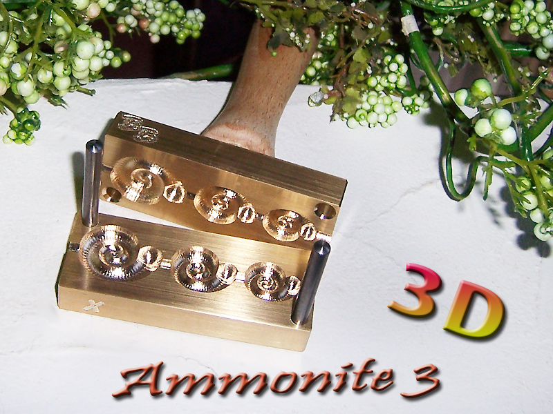 "bead press ""Bavarian 3D Ammonite three"""