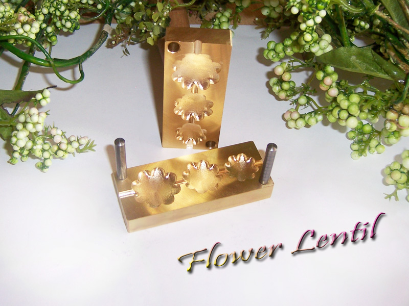 "bead press ""Bavarian  3D Flower Lentil"""