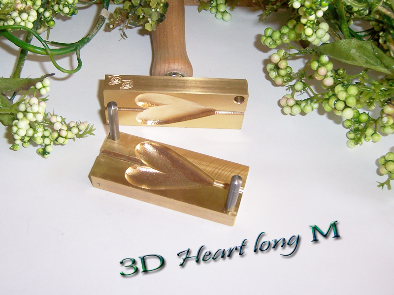 "bead press ""Bavarian 3D Heart long M"""