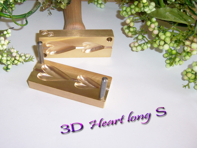 "bead press ""Bavarian 3D Heart long S"""