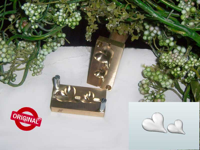 "bead press ""Bavarian 3D sloping heart S"""