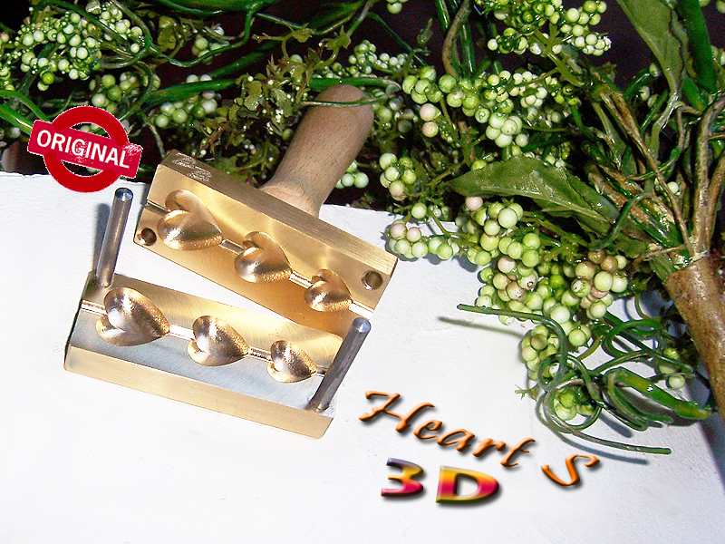 "bead press ""Bavarian Heart S real 3D"" bellied"