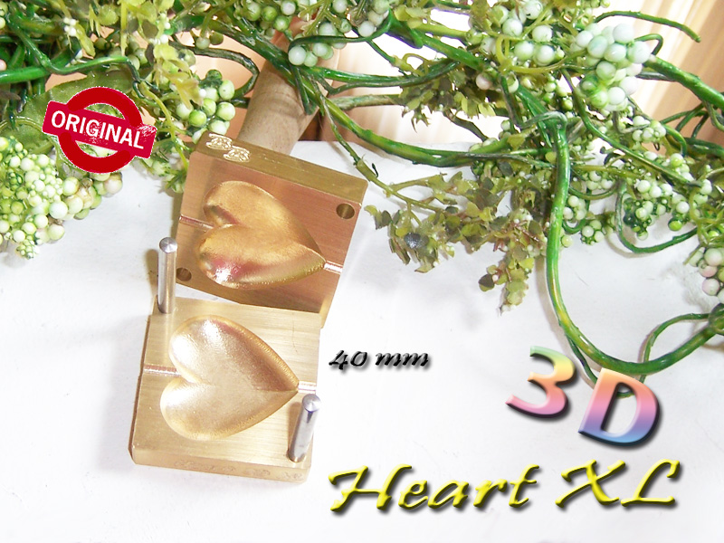 "bead press ""Bavarian Heart XL real 3D"""