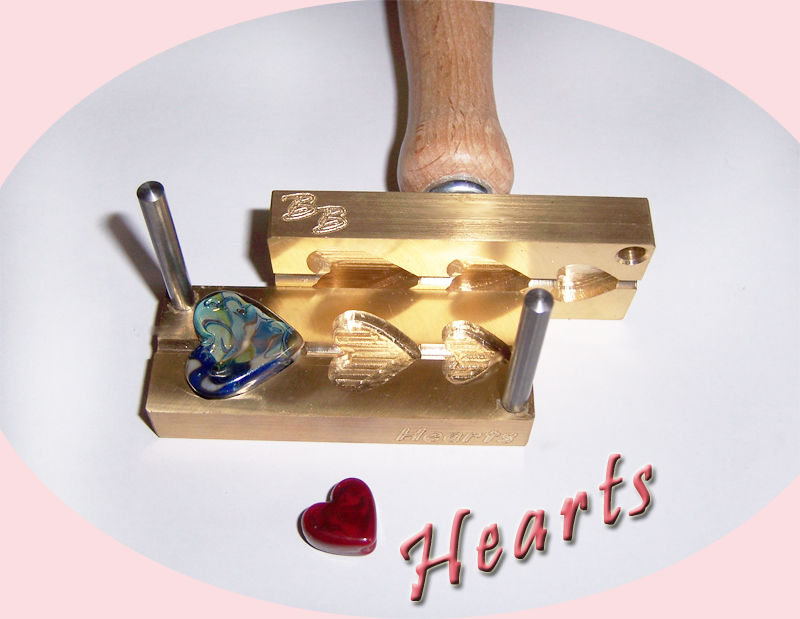 "bead press ""Bavarian Hearts"""