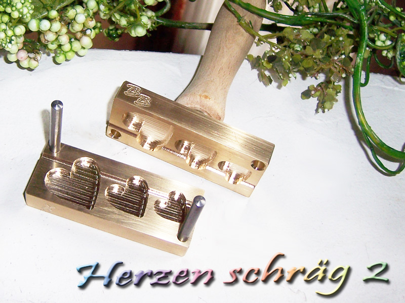 "bead press ""Bavarian Hearts diagonal 2"""