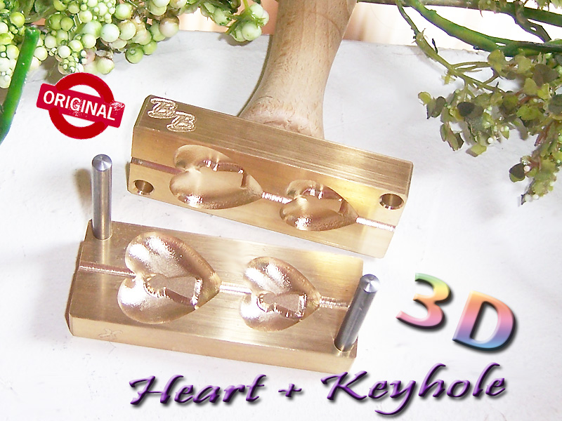 "bead press ""Bavarian 3D Heart with Keyhole"""