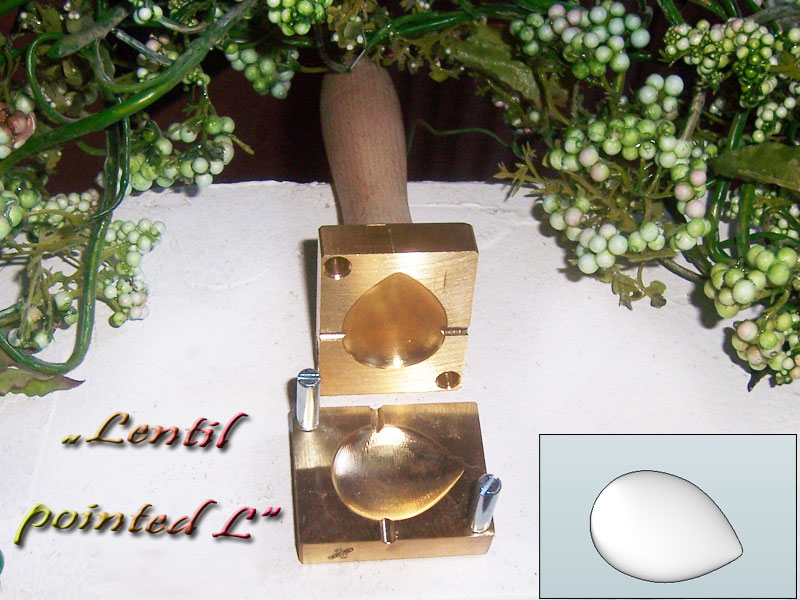 "bead press ""Bavarian 3D lentil pointed L"""