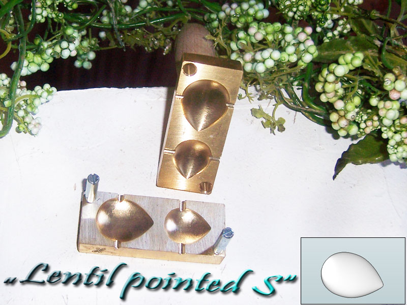 "bead press ""Bavarian 3D lentil pointed S"""