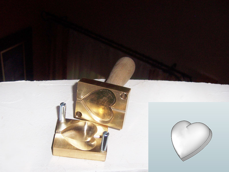 "bead press ""heart 3D L (deep arched) """