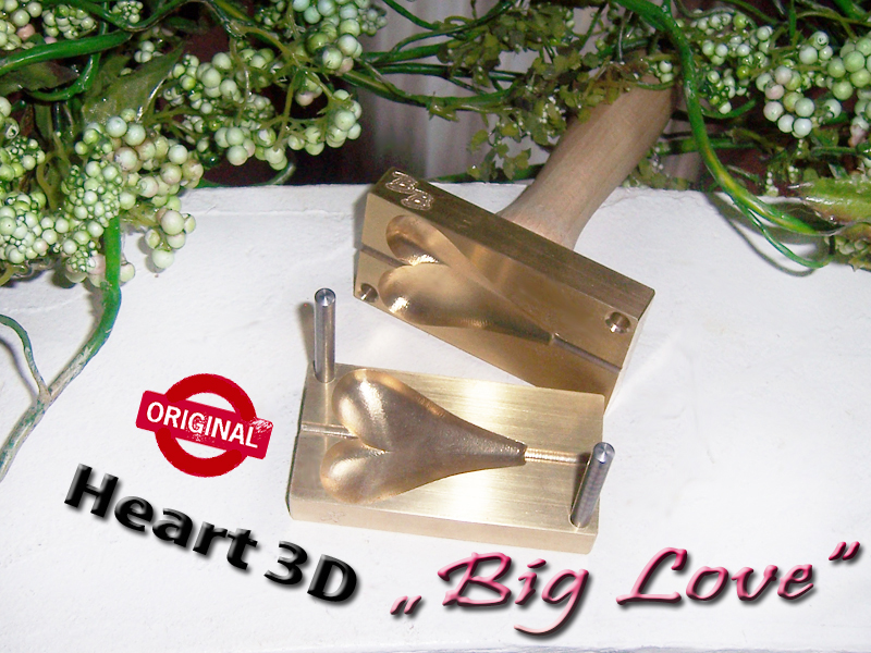 "bead press ""Bavarian Heart real 3D BIG LOVE"""