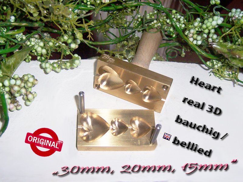 "bead press ""Bavarian real 3D Hearts bellied"""