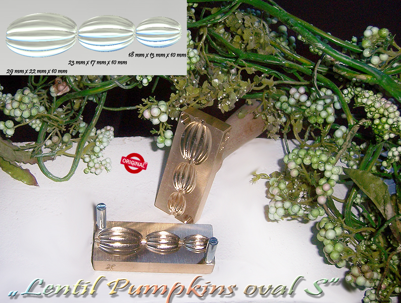 "bead press Bavarian ""Lentil Pumpkins oval S """