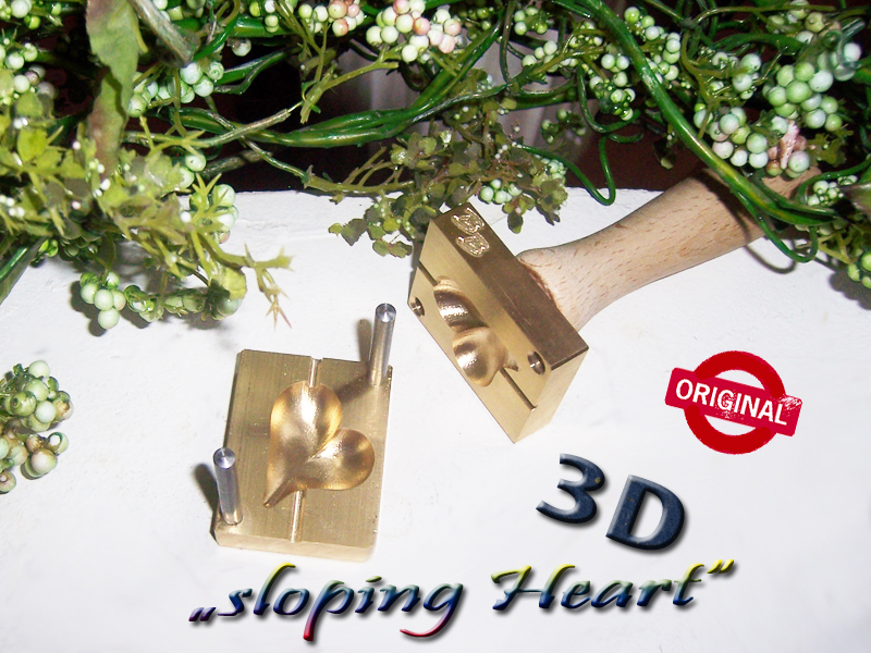 "bead press ""Bavarian 3D sloping Heart """