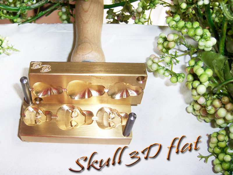 "bead press ""Bavarian 3D SKULL flat"""