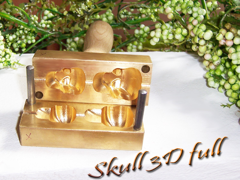 "bead press ""Bavarian 3D SKULL full"""